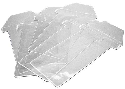 PVC-Hülle für Kanban T-Karte