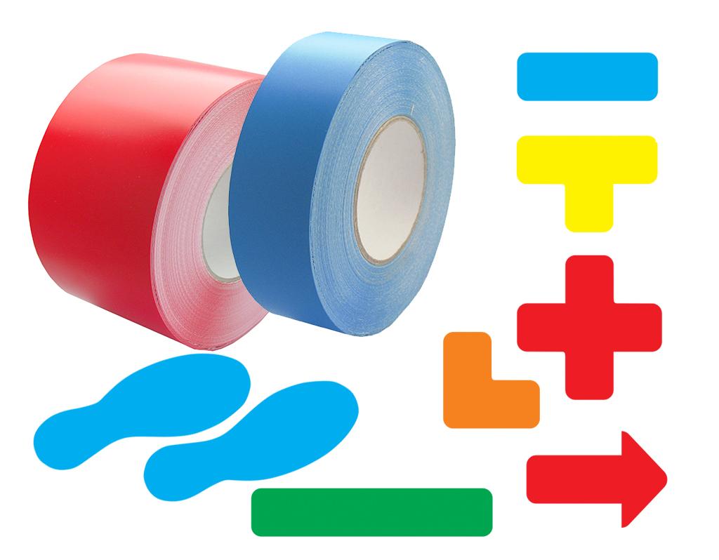 Značky a pásky na podlahu