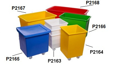 Colour coded mobile containers