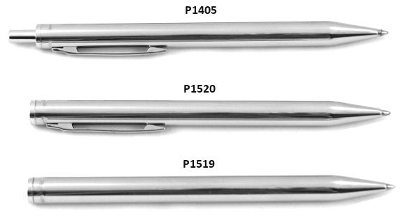 Wykrywalny nierozkładany długopis ze stali nierdzewnej