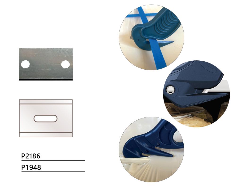 Wykrywalne noże bezpieczne z uktrytym ostrzem