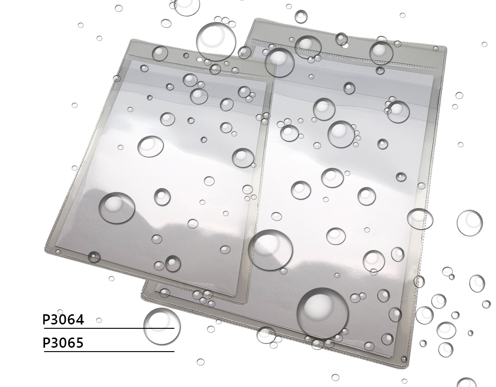 Waterproof pockets for documents