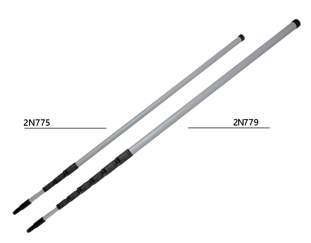 Telescopic handle with waterfed