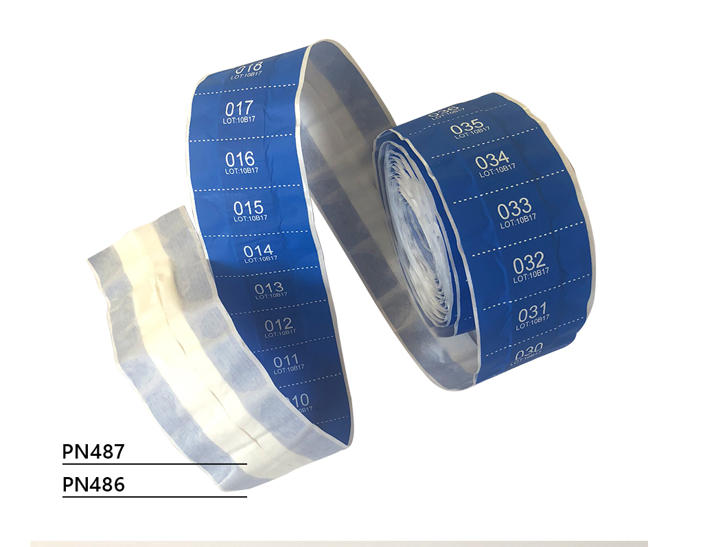 NEW! Sequentially numbered detectable blue plasters for cutting