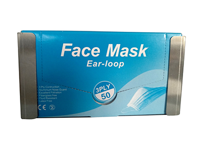 Stainless steel face masks dispenser