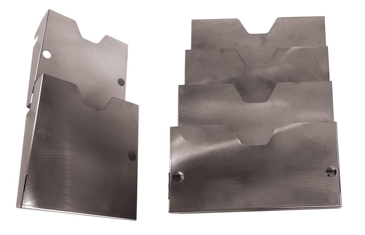 Schránka z nerezové oceli na dokumenty spojená v systém