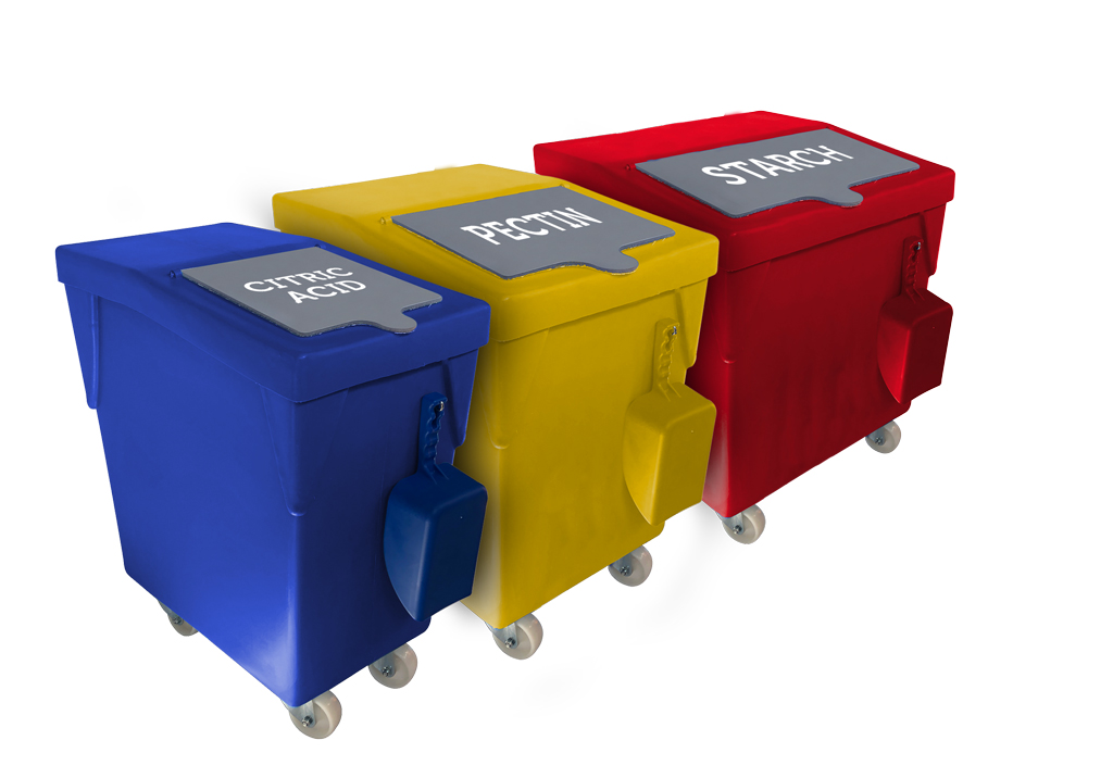 NEW! Colour coded mobile ingredient dispensers