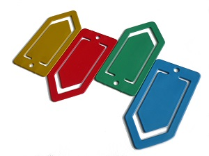 Detectable paperclips 5x12cm