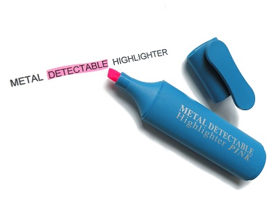 Ar metāla detektoru uztverams teksta marķieris