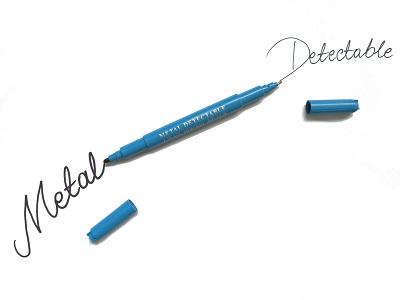 Ar metāla detektoru uztverams marķieris/plānais marķieris TWIN