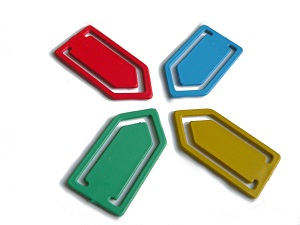 Detectable paperclips 2,5x5cm